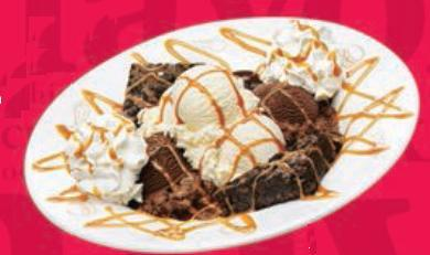 Caramel Fudge Brownie Sundae at Friendly's