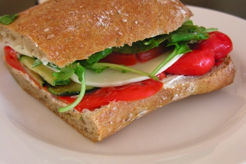 Vegetable on Multigrain Focaccia at D'Amico & Sons