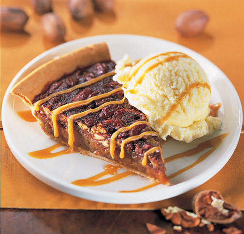 Pecan Pie at Red Hot & Blue Restaurant