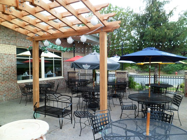 Beautiful Outdoor patio  - Exterior at Time Out Restaurant & Sports