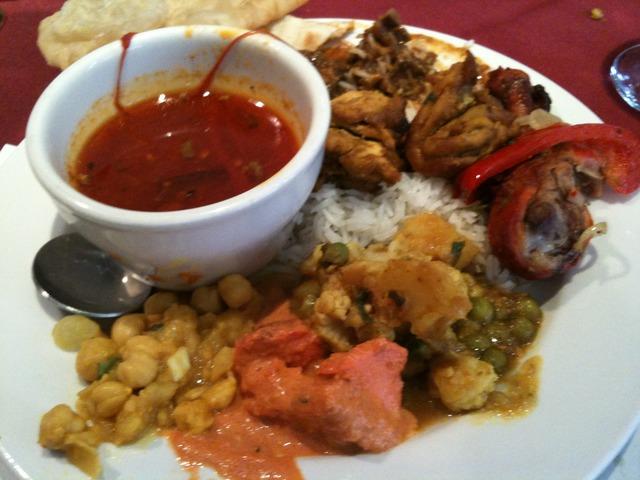 Second half of the buffet - Lunch Buffet at Kumari Restaurant
