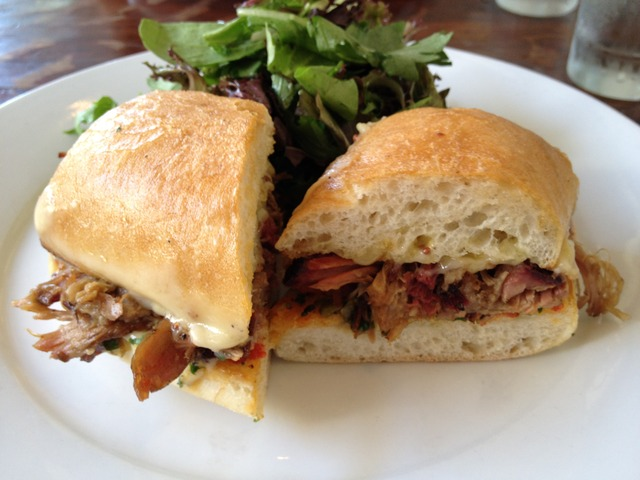 Pulled Pork Panini at Ford's Filling Station