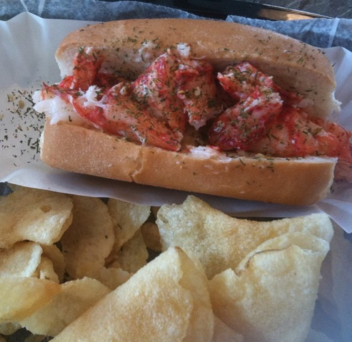 Junior Lobster Roll at Linda Bean's Perfect Maine