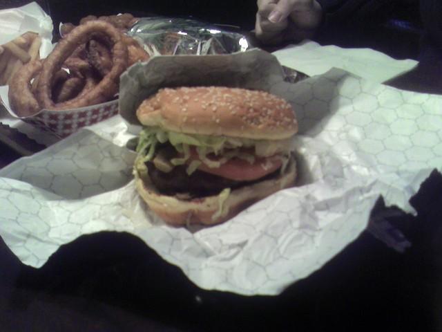 Mushroom Burger at Wibbley's Gourmet Hamburgers