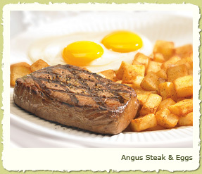 ANGUS STEAK & EGGS at Coco's Restaurant & Bakery
