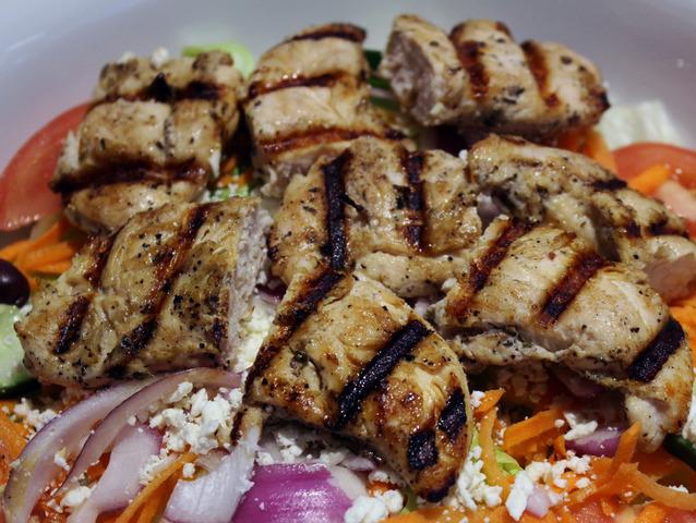 Chicken Kabob Salad at Royal Roast Beef & Seafood