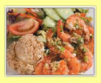 Garlic Shrimp at L & L Hawaiian BBQ