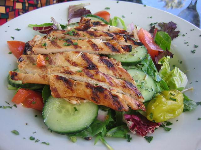 Chicken Teriyaki Salad at Blu Wave Mediterranean Kitchen
