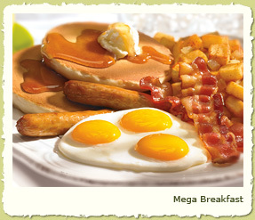 MEGA BREAKFAST at Coco's Restaurant & Bakery
