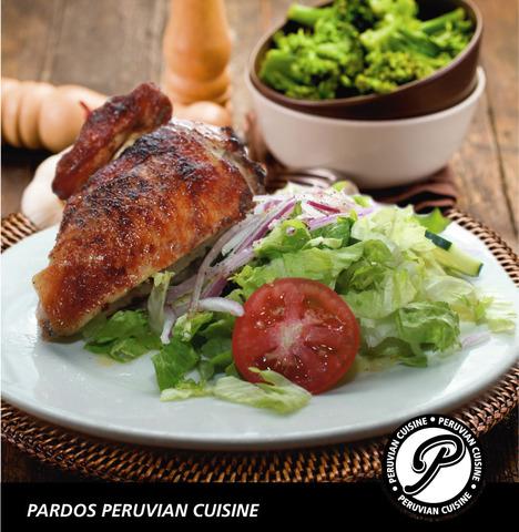 1/4 Peruvian style rotisserie chicken at Pardos Peruvian Cuisine