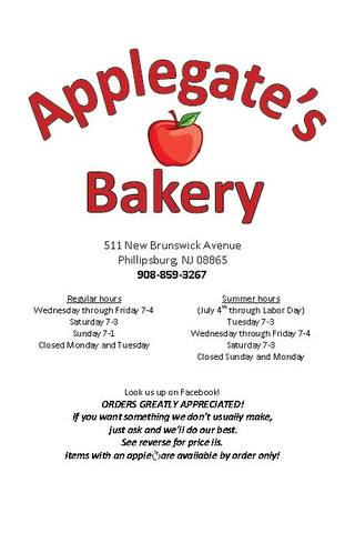 Applegate S Bakery Bakeries Restaurant Phillipsburg 08865