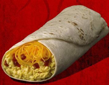 Egg & Cheese Burrito at Del Taco