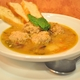 The turkey albondigas  soup consists of turkey garlic meatballls in a veggie broth with  carrots, ce - Turkey Albondigas at Roots Gourmet