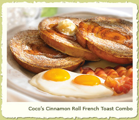 COCO'S CINNAMON ROLL FRENCH TOAST COMBO at Coco's Restaurant & Bakery