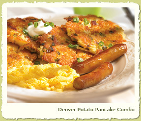 DENVER POTATO PANCAKE COMBO at Coco's Restaurant & Bakery