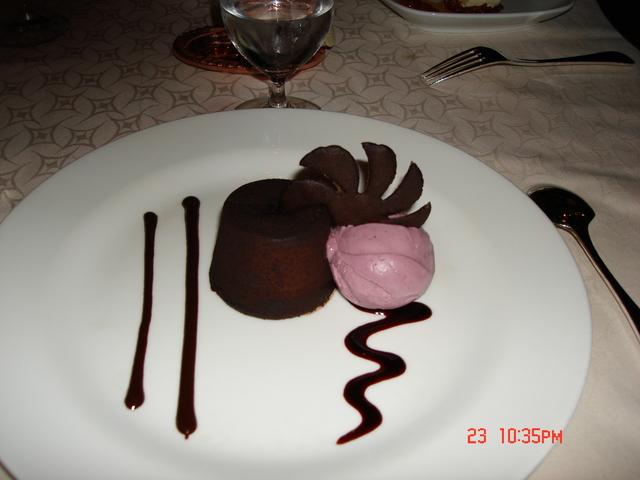 Photo of Chocolate Cake with raspberry ice cream