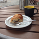 Chocolate croissant at Barkada Bakery + Cafe