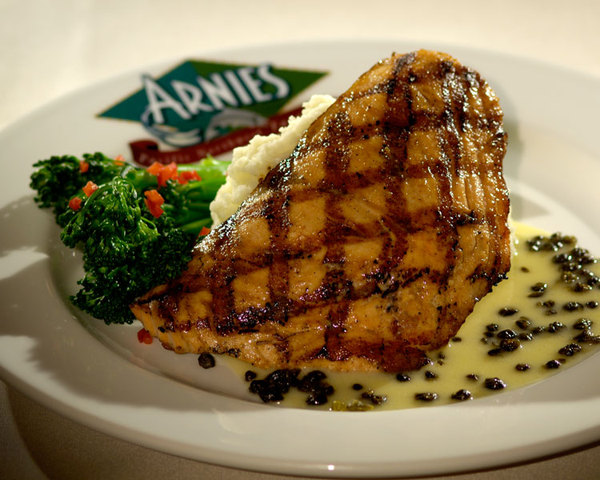 Cold Smoked and Grilled! - Pit Roasted Salmon at Arnie's In Edmonds