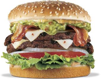 Double Guacamole Bacon Burger at Carl's Jr.
