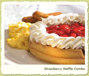 STRAWBERRY WAFFLE COMBO at Coco's Restaurant & Bakery