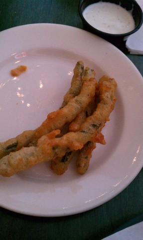 Beer-Battered Green Beans at Blue Door Pub