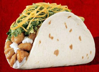 Chicken Soft Taco at Del Taco