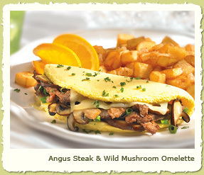 ANGUS STEAK & WILD MUSHROOM OMELETE at Coco's Restaurant & Bakery