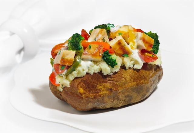 Grilled Chicken Caesar Potato at Good Earth Potato