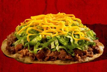 Tostada at Del Taco