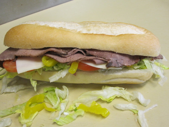 Roast Beef Sub at Perry's Pizza & Italian Restaurant
