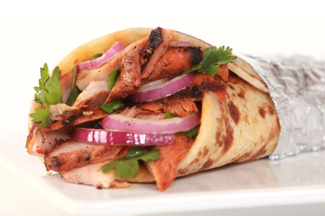 Delish chiken tikka wraps, highly recommended. - Chicken Tikka at Bombay Wraps