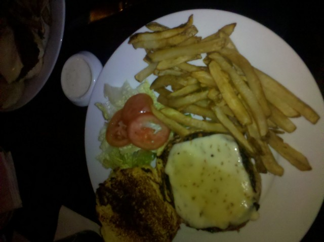 burger with fries at Dive Bar & Grille