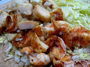 Shrimp & Scallop Wrap at Jimbos