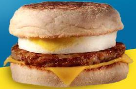 Sausage McMuffin with Egg at McDonald's