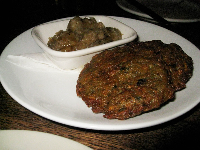 Potato Latkes with Smoked Applesauce at The Gorbals Los Angeles