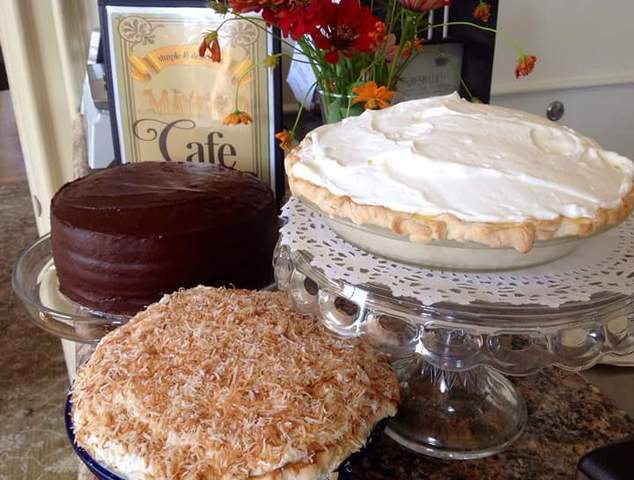 Ckae and Pies at the Mayfield Cafe in Marble Hill, Missouri. - Cake and Pies at the Mayfield Cultural Center