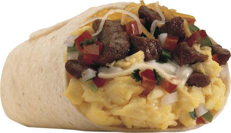 Steak & Egg Burrito at Carl's Jr.