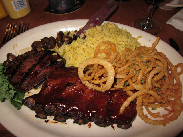 Steak and Ribs combo at Branded Steer