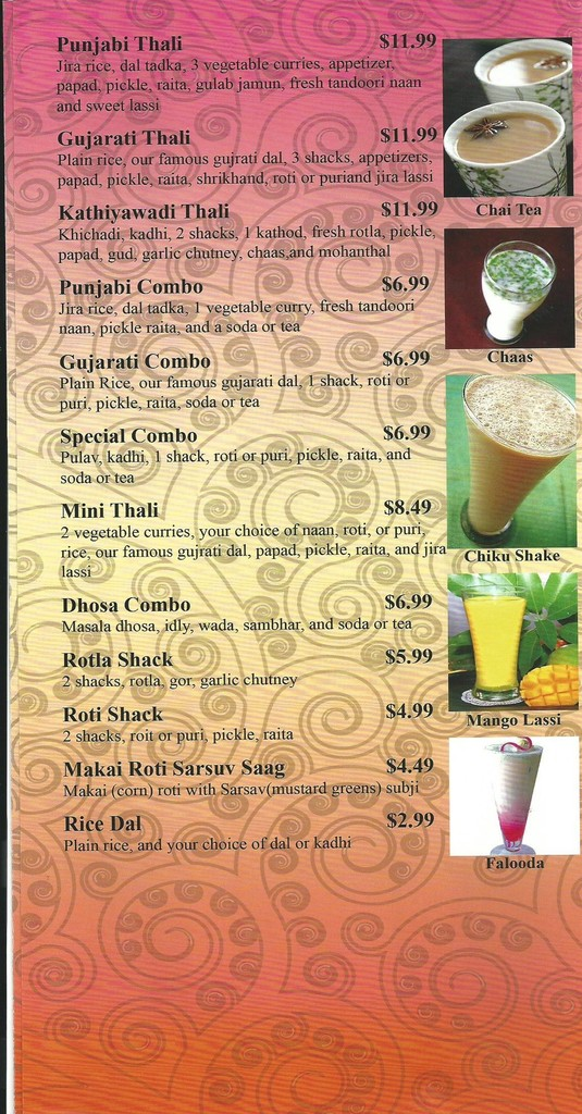 Restaurant Menu at Standard Sweets and Snacks