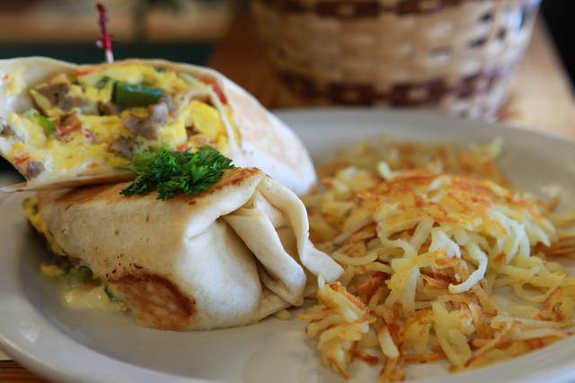 Breakfast Burrito at Peach's Restaurant