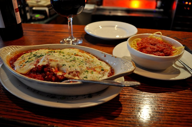 Decent flavor, good portion size, and great price.  The eggplant, however, was a little underdone. - Eggplant Parmigiana at Cherry Tomato