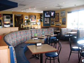 Interior at Straw Hat Pizza