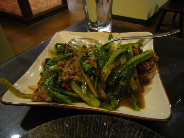 Sauteed sliced lamb w/Taiwanees BBQ sauce at Facing East Taiwanese Restaurant