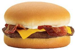 Jr. Bacon Cheeseburger at Jack in the Box