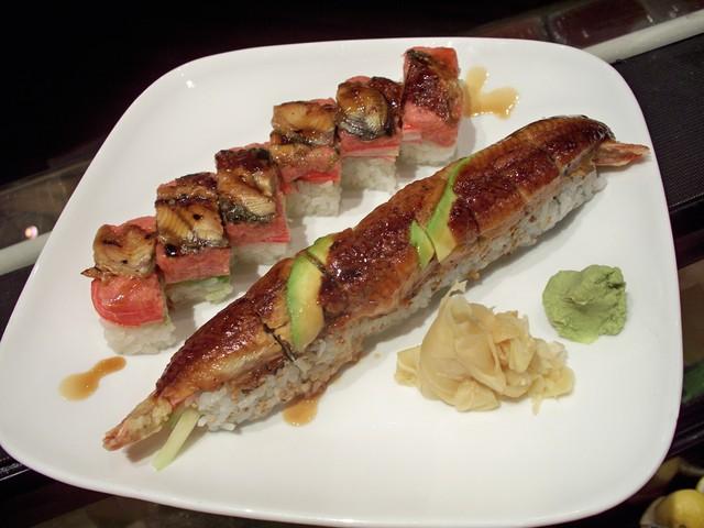 RED SQUARE & DRAGON ROLL at Arisu Japanese Cuisine
