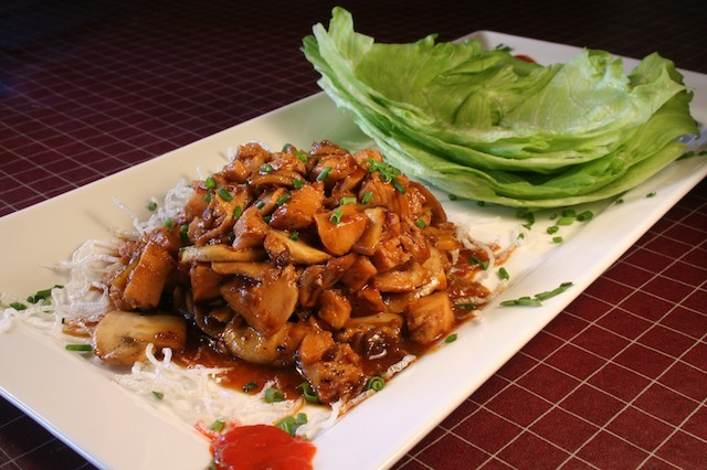 Photo By James Borg - Chicken Lettuce Wraps at Legends at Diablo Creek