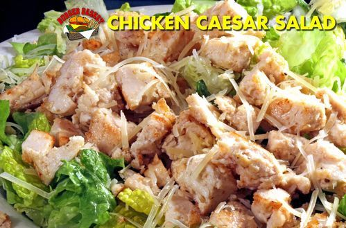 Chicken Ceasar Salad at Burger Basket