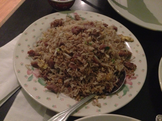 Beef fried rice at Saigon Grill
