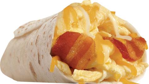 Bacon & Egg Burrito at Carl's Jr.