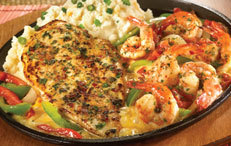 Sizzling Chicken & Shrimp at T.G.I. Friday's